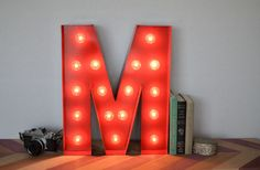 Vintage Inspired Marquee Light Letter M by SaddleShoeSigns on Etsy, $150.00