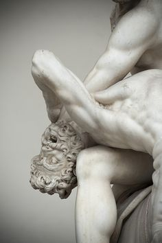 Detail of Hercules & Nessus by Jean de Boulogne and Pietro Francavilla