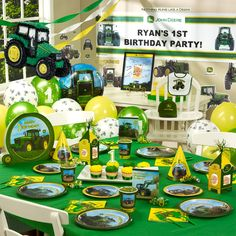 Tractors john deere party, party packs, birthday parties, birthday idea, birthday themes, first birthdays, birthday party themes, 1st birthdays, john deere birthday