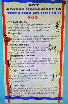 Work like an Artist  http://cindywisenhesart.edublogs.org