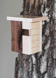 Northwest Birdhouse  This looks simple to make and is beautiful.