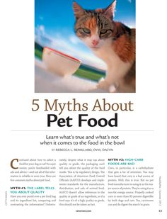 5 Myths about pet food.~