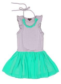 Imoga Vicky Necklace Dress in Dove Madori - Hello Alyss - Designer Children's Fashion Boutique