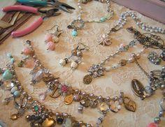 Vintage Trinket Jewelry vintag trinket, upcycl vintag, charm bracelets, andrea singarella, jewelry bracelets, vintag jewelri, vintage necklaces, trinket jewelri, vintage style
