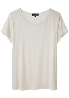 A.P.C. / Sheer Jersey T-Shirt #r29summerstyle
