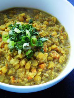 Cauliflower split pea soup