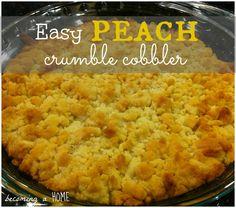 easy peach crumble cobbler