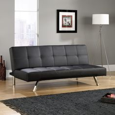 Black Cooper Sofa Convertible, Home Furnishings and Furniture