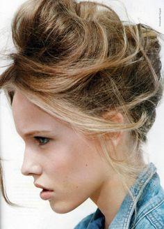 messy bun hairstyles - Google Search