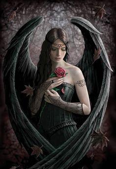 Archangel Lucifer Was Beautiful | Anne Stokes She looks like me.
