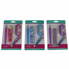 Abella 4 Piece Manicure Set (Color Varies) by Abella. $4.99. Everything you need for pampering your little princess. Ideal as a party favor for a girls day spa themed party or sleepover. Professional quality four pc. manicure set. Assorted color - pink, blue or lavender - no color choice. Includes cuticle trimmer, nail file, fingernail clippers, nail brush. Four piece manicure set for girls, teens and women. Basic nail care essentials for maintaining healthy and beautif...
