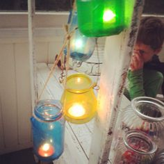Greatfun4kids: Lanterns decorate the lemonade stand we set up for Halloween (offering homemade lemonade and lollies)