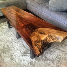 Highly figured Jatoba live edge coffee table by TheTimberLibrary