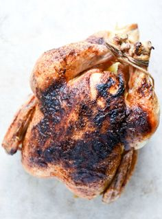 Easy Chipotle Lime Whole Roasted Chicken I howsweeteats.com