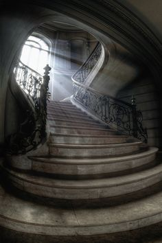 mysterious places, lights, castl, stairs, window, hous, beauti, staircas, stairways