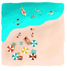 Astrid Prasetianti - Summer of Love illustrations for hellobali magazine