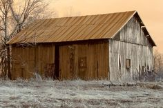 Brown Autumn Fall Rustic Barn Country    8x10 by 8daysOfTreasures,