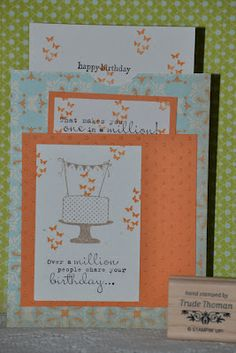 Stampin' Up! Make a Cake card