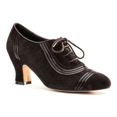"American Duchess ""Claremont"" 1930s oxfords, a historical repro based on a late 30s Rosenthal and Doucette sample in the London College of Fashion Shoe Collection"