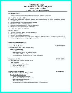 Restaurant manager sample resume