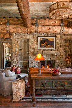 interior, mountain cabins, logcabin, dream cabin, living rooms