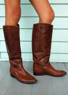 Leather Riding Boots are made in Italy by Bandolino