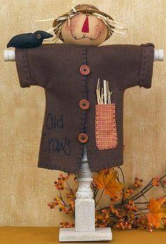 Primitive Scarecrow Spindle