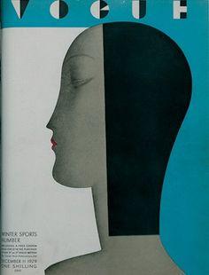 Art Deco Vogue Cover / December 1929. @Deidra Brocké Wallace