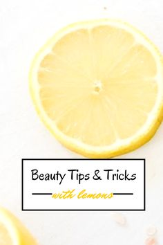 Beauty Tips and Tricks with Lemons… I use lemon on my face on and off it does help! Even for dark spots and it smells good+