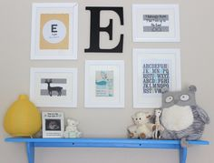 Simple gallery wall for a baby boy nursery