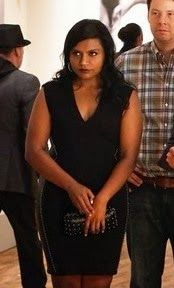 """Mindy's Haute Hippie Studded Leather-Panel Sheath Dress The Mindy Project Season 2, Episode 5: """"Wiener Night"""" - Spotted on TV"""