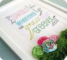cute idea for the classroom walls