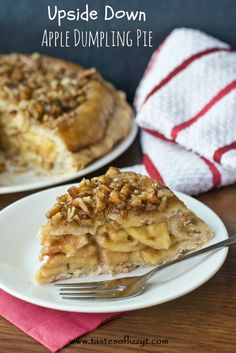 Upside Down Apple Dumpling Pie {Tastes of Lizzy T} I probably won't have time to make it but it looks delicious