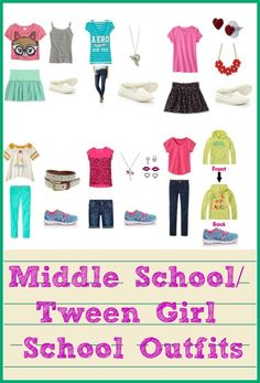middle school / tween girl back to school oufits