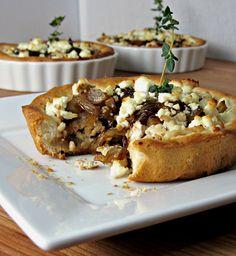 Chicken & Balsamic Onion Goat Cheese Tartlets