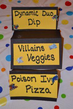 batman food ideas, birthday parti, batman parti, food labels, game, batman birthday food, parti idea