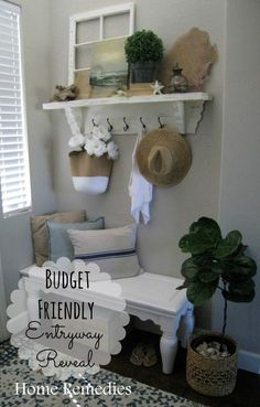 Budget Friendly Entryway Reveal | Home Remedies