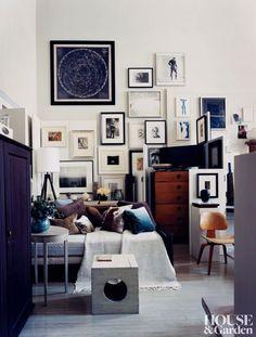 designer Thomas O'Brien's gallery wall   Martyn Thompson