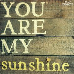 BLISSFUL ROOTS: DIY Wood Plank Sign {You Are My Sunshine}