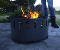 10 Easy Pieces: Outdoor Fire Pits and Bowls. Shown here is an unfinished steel fire ring designed by Eric Pfeiffer.