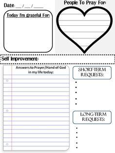 How to do a prayer journal