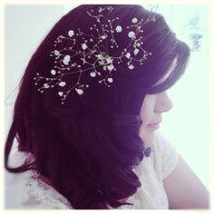Vintage inspired bridesmaid hairstyle. Love my sister 's hair.