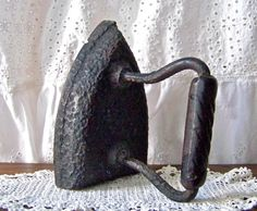 Antique Sad Iron Clothes Iron Primitive Iron Cast by cynthiasattic, $35.00