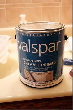 Right kind of primer for painting over tile. Valspar primer didn't work well when I tested it. I found that the Zinsser oil-based primer worked MUCH better. Hope it helps!