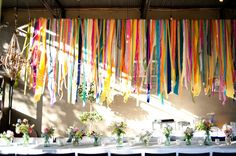Hanging ribbon decorations