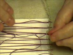 How to Lace your Needework - YOU tube video. Very useful.