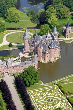 de haar, dutch castl, holland, kasteel de, castles, travel, place, utrecht, netherlands