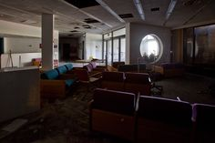 The waiting room of the abandoned United Community/Southwest General Hospital in Detroit. Seriously looks like something out of Left 4 Dead 2.