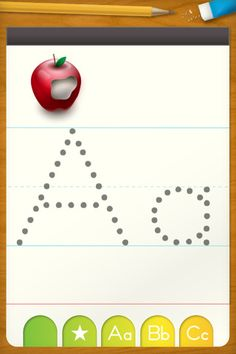 ABC Letter Tracing – Free Writing Practice for Preschool ($0.00) ABC Letter Tracing is a fantastic and completely free application for children learning to write and recognize their ABC's. Intuitively trace both uppercase and lowercase letters with the touch of a finger. Hear and see English alphabet letters and real world objects that relate to them.