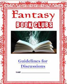 Fantasy Book Clubs Readers Workshop Unit